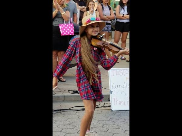 Karolina Protsenko,playing Despacito amazing performance! Santa Mónica Ca. Sep 2018