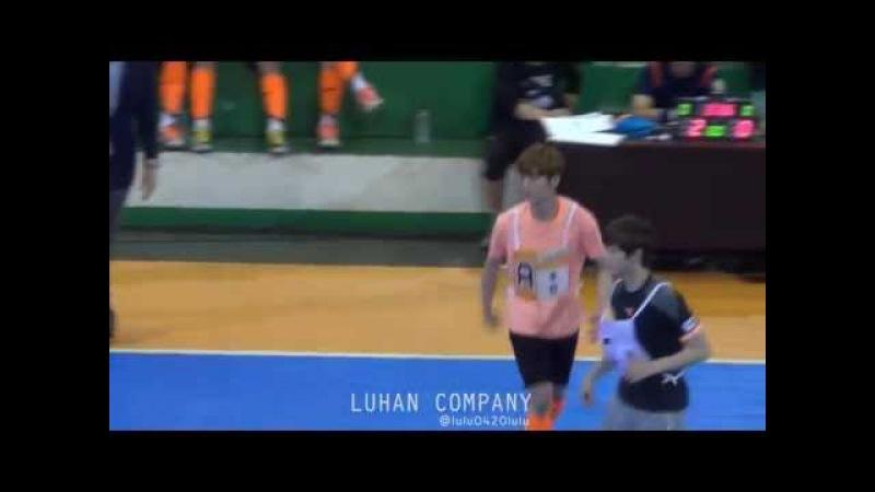 140526 @ MBC Idol Futsal Championship_heading goal_luhan_루한 염력사용한 헤딩골추가골세레모니