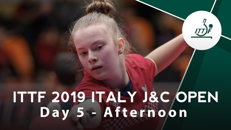 2019 ITTF Italy Junior Cadet Open Day 5 Afternoon
