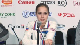 Alina Zagitova Short Program Press Conference 2018 12 6
