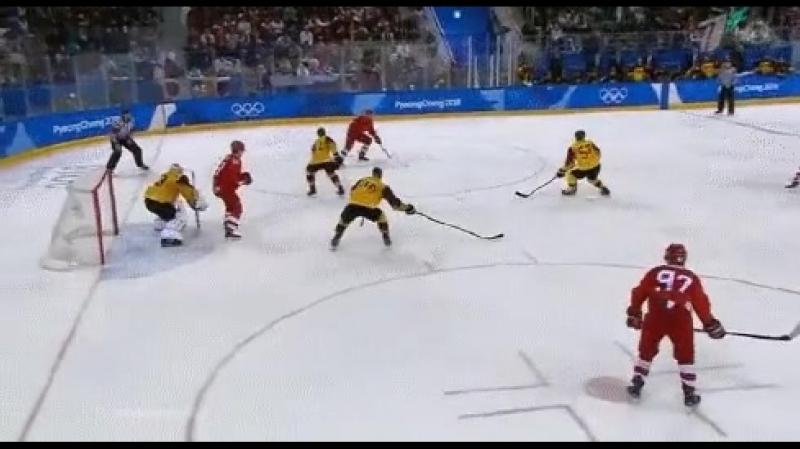 Решающая шайба на чемпионате мира по хоккею 2018 года, Россия vs Германия решающая шайба