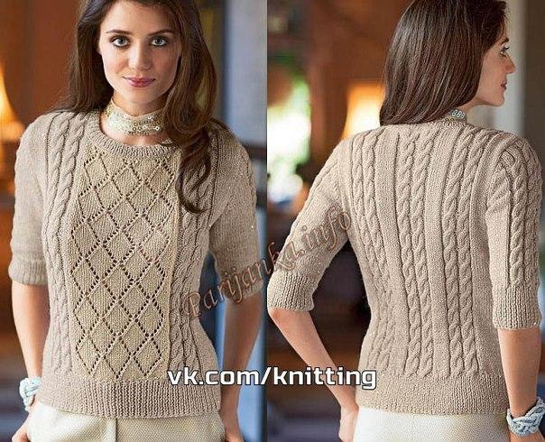 Пуловер с коротким рукавом (6 фото) - картинка