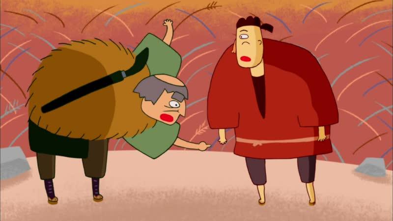 Японские народные сказки (2012) Старуха с лошадиной горы; Креветка идёт в Исэ; Что за недуг? Городская больница (29)