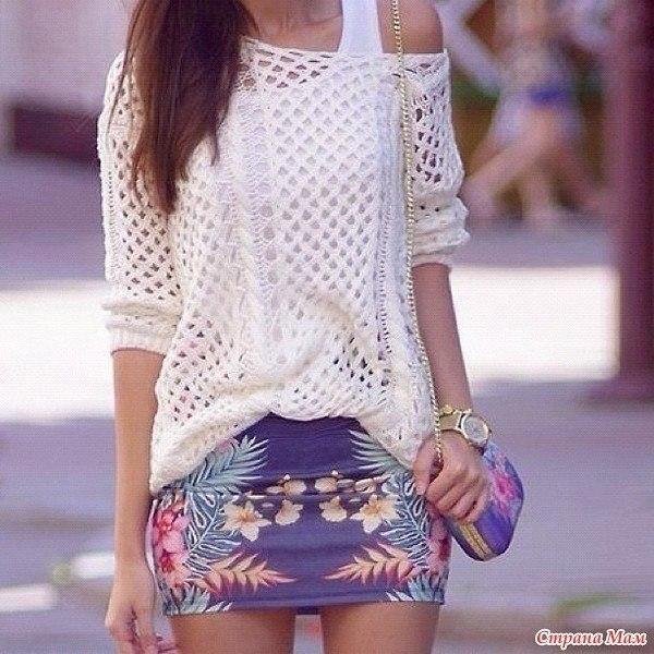Белый ажурный джемпер от Zara (9 фото) - картинка