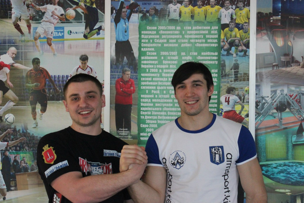 Peter Margarint, Evgeny Prudnik - Ukrainian Armwrestling Championship 2014