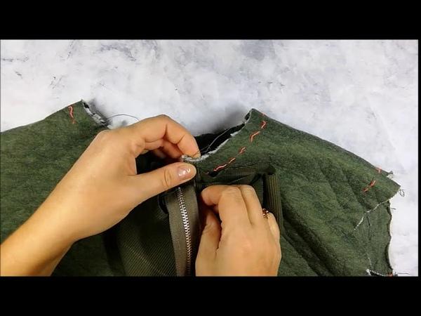 Пришиваем молнию и воротничок в трикотажном платье