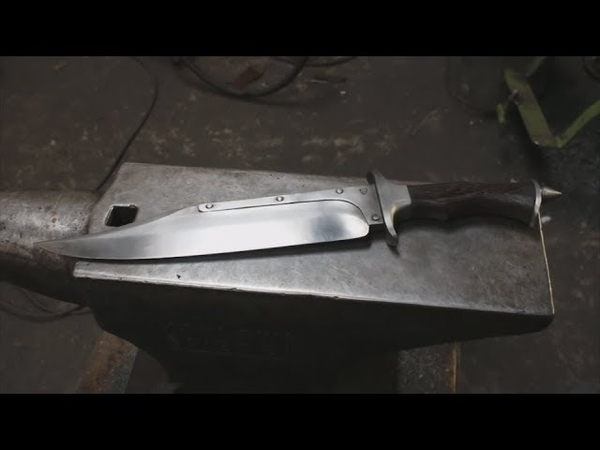 Нож из разных сталей. Кузнечная сварка