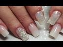 Как сделать ГРАДИЕНТ гелем блестки | How to do Baby Boomer gel nails