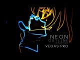 Neon Outline Tutorial w Sapphire for Vegas Pro