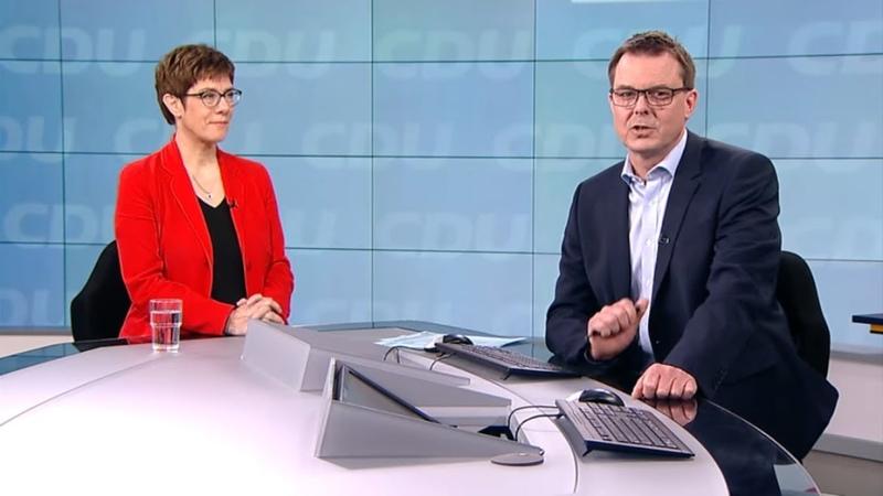 WELT-INTERVIEW: AKK sieht noch keinen Bruch der Achse Deutschland-Frankreich