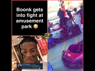 boonk gang дал пиз(д)юлей нигеру в парке развлечений