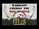 Warrant Cherry Pie M3 Rock Festival May 5, 2018