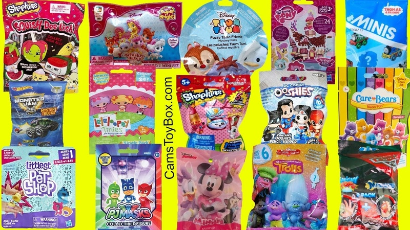 Blind Bags Opening Toys Shopkins Squish DeLish Lalaloopsy LPS Minnie Mouse TROLLS PJ MASKS Cars 3