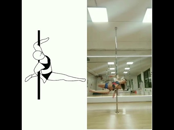 SP20 Elbow spin attitude, 0.5, by Sandra Jung For the CRACK THE CODE CHALLENGE – POLE EDITION