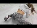 Sexy White girl twerking