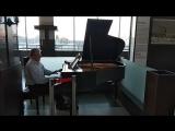 Прекрасная фортепианная фантазия на темы Таривердиева. Ярославский вокзал, Москва)