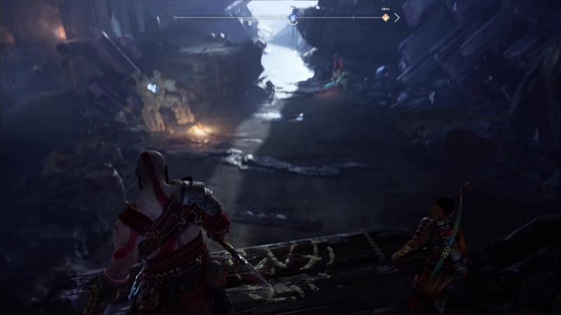 Прохождение God of War 33 (PS4) - Ландсутерские рудники