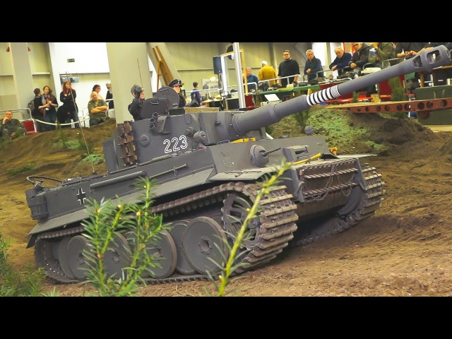 HEAVY WEIGHT 150 KG RC MODEL TANK IN XXL SCALE!! TIGER 1 * RC MODEL MILITARY VEHICLES