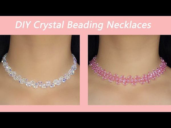 Easy Crystal Beading Necklaces Tutorial / How to Make Elegant Crystal Beading Necklaces