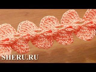 Crochet 3D Ribbon Cord Урок 29 Вязание крючком