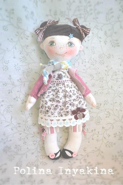 Маленькая куколка. Выкройка от Полины Инякиной
