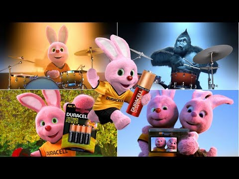 All The Best Pink and Funny Famous Duracell Bunny Commercials Ever