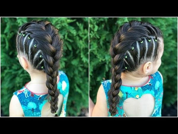 Trenza francesa con ligas|Peinados fáciles y rápidos para niñas|LPH