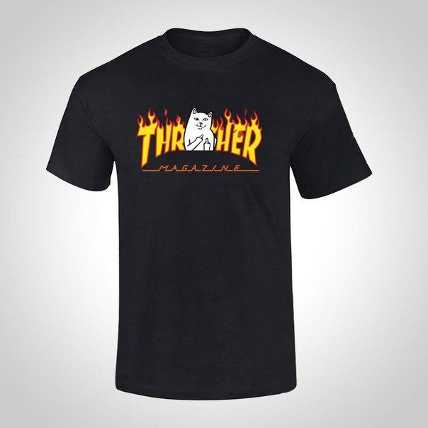 Футболки Thrasher x RipnDip