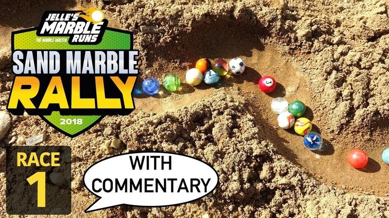 Jelle's Marble Runs: Sand Marble Rally 2018 - Race 1