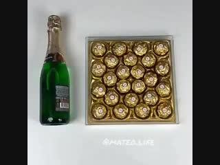 Как украсить бутылку шампанского?! 🍾🍾🍾