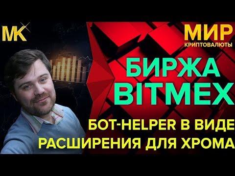 Bitmex Bot Helper расширение браузера хром для ручной маржинальной торговли