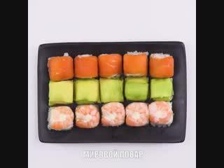 Суши в кубиках для льда