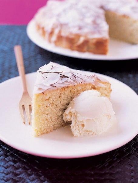 Пирог с лаймом и кокосом