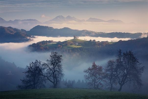 Рассвет в горах Словении