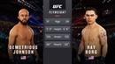 DEMETRIOUS JOHNSON vs. RAY BORG EA SPORTS UFC 3 CPU vs. CPU GAME PS4