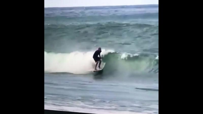 Бэкфлип на серфе