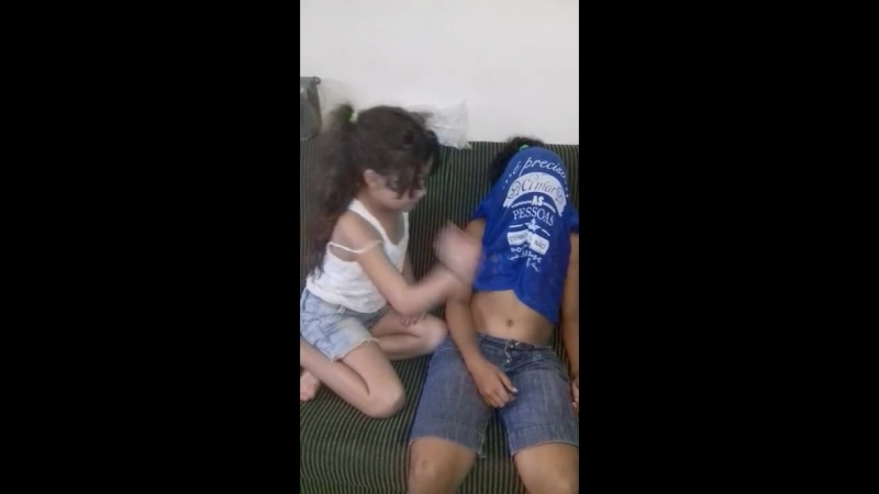 So cute and funny kid belly punching