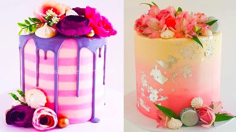 Best Satisfying Cake Decorating Compilation 😱🍦 Amazing Cakes Styles Ideas 2018 💛💛