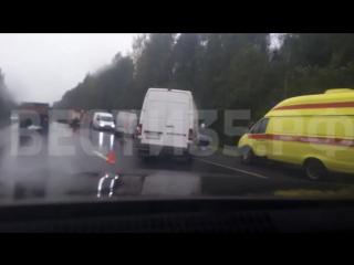 ВАЗ и «Газель» столкнулись под Вологдой: есть пострадавшие