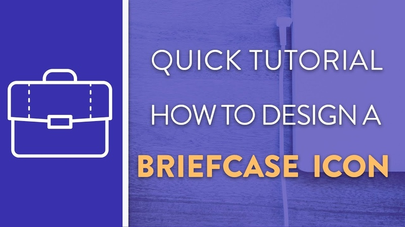DAY 4 : How To Design A Briefcase Icon in Illustrator   Icon Design Week