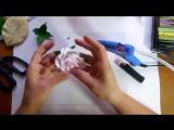МК Роза из зефирного фоамирана на шпильке