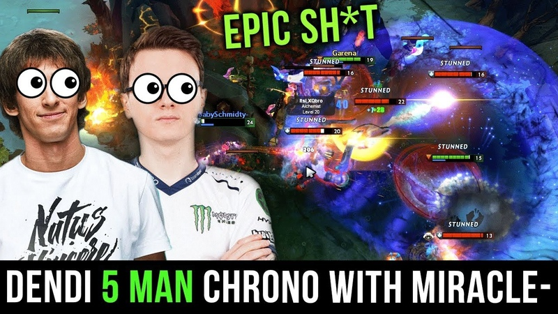 EPIC Sh*t Dendi Void 5 Man Chrono = Ez Ultra Kill for Miracle- Dota 2