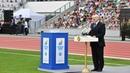 Выступление Президента Беларуси на церемонии открытия стадиона Динамо