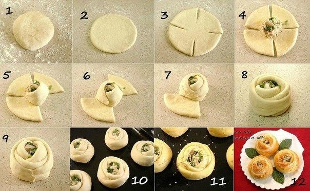Форма булочек в домашних условиях