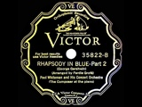 1927 HITS ARCHIVE Rhapsody In Blue - Paul Whiteman &amp George Gershwin