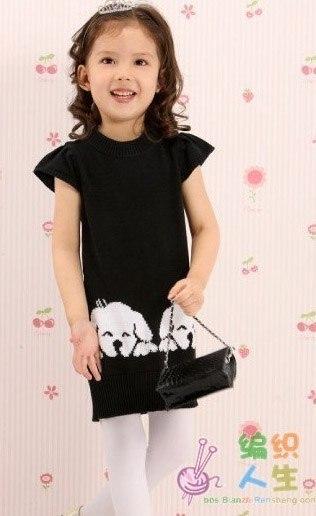 Детское платье с собачками.. (2 фото) - картинка
