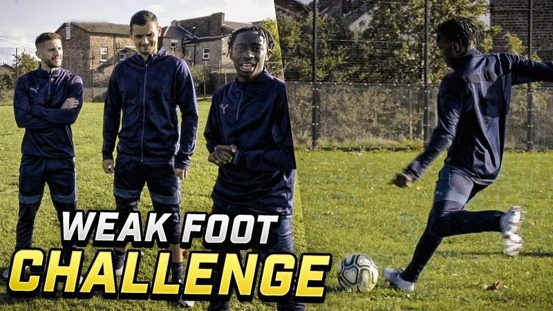 WEAK FOOT SHOOTING CHALLENGE VS ADAM LALLANA AND DEJAN LOVREN