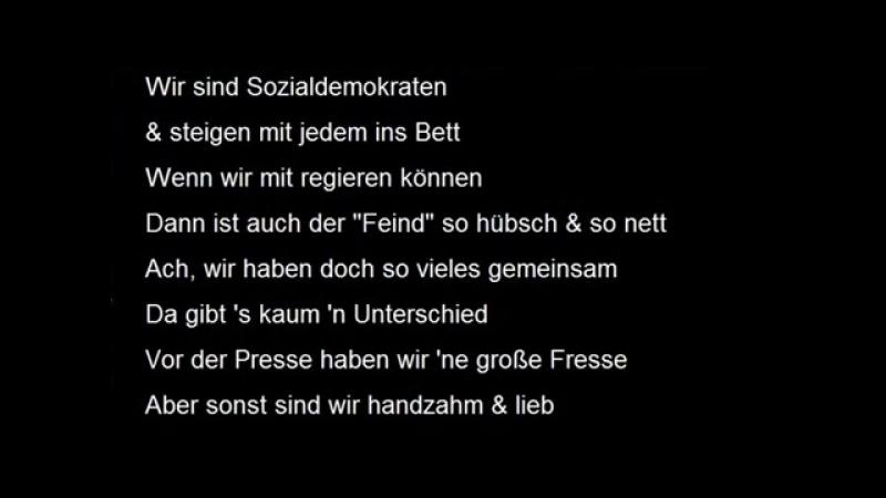 Das GroKo-Lied der SPD - -Wir woll-n ja nicht- dass sich was ändert- - Christoph Holzhöfer
