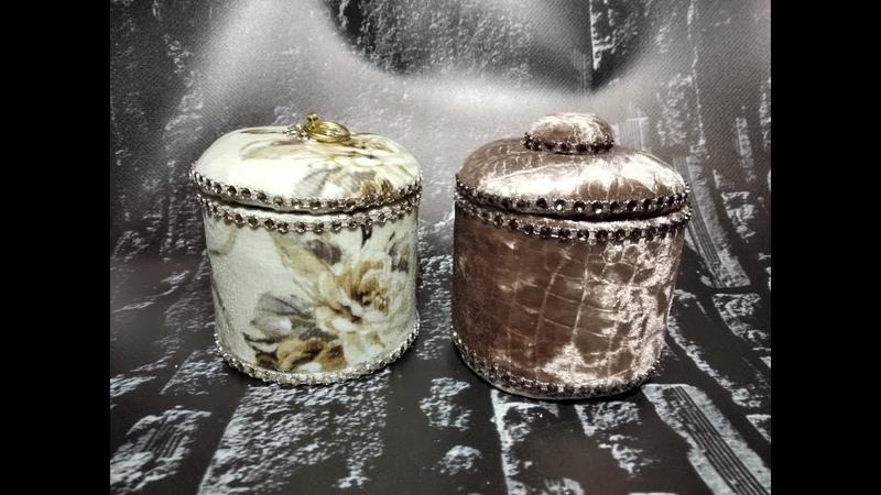 Круглая шкатулка своими рукамиJewelry boxkadife kutu
