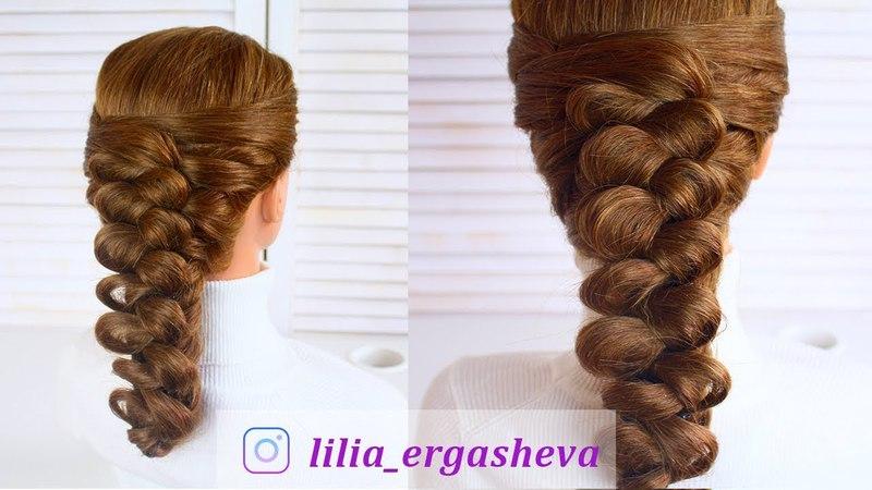 Прическа на каждый день| Косы| Прическа на средние волосы 🌹Everyday Hairstyles| Braids
